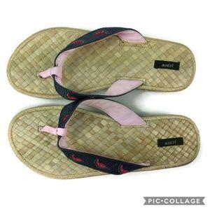 J. Crew Shoes - J. Crew 9 Watermelon Flip Flops Woven Footbed